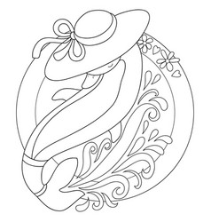 a coloring bookpage for chidlren and adults acute vector image