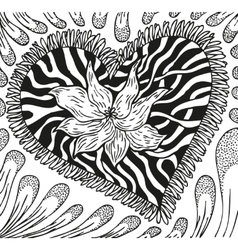 Abstract background of doodling hand drawn vector