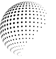 abstract globe with halftone vector image