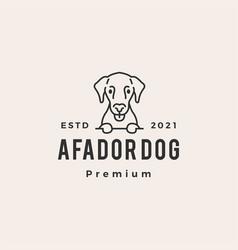 Afador dog hipster vintage logo icon vector