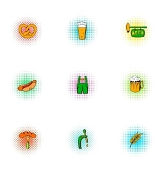 Ale icons set pop-art style vector image