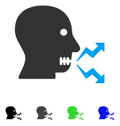 Angry person shout flat icon vector