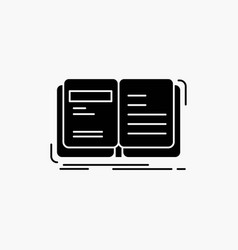 Author book open story storytelling glyph icon vector