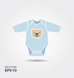 Baby boy bodysuit flat icon vector