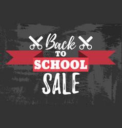 Back to school sale typographic vector
