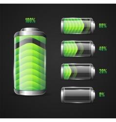 Battery full level indicator vector