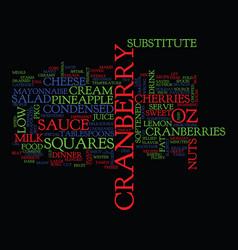 best recipes cranberry salad squares text vector image
