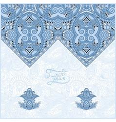 Blue colour oriental decorative template for vector