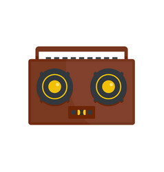 boombox icon flat style vector image