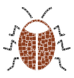 Bug composition of squares and circles vector