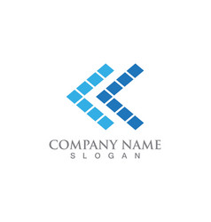 business logo and symbols finance template icons vector image