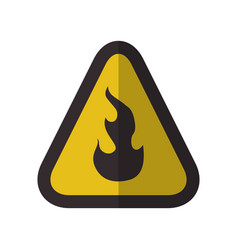 caution flammable danger sign vector image