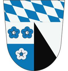 Coat of arms of kelheim in lower bavaria germany vector