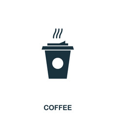 coffee icon mobile apps printing and more usage vector image