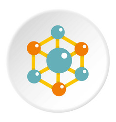 Colorful chemical and physical molecules icon vector