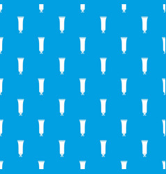 Cosmetic tube pattern seamless blue vector
