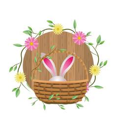 cute rabbit ears cartoon vector image
