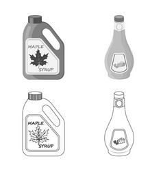 Design of can and food icon set of can and vector
