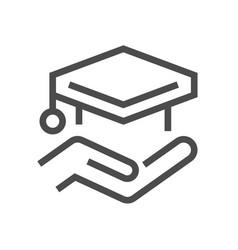 diploma cap icon vector image