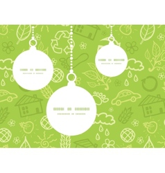 Environmental Christmas ornaments silhouettes vector