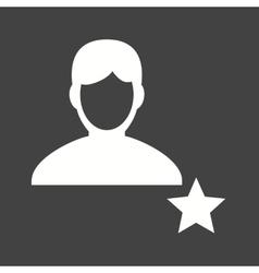 Favorite Male Profile vector image vector image