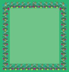 Frame greeting of the colors square vector