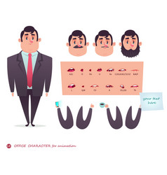 funny office boy cartoon vector image