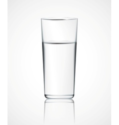 Glass water vector