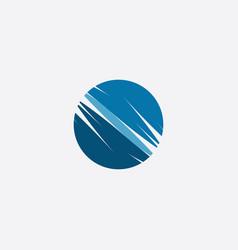 globe stylized icon logo element vector image