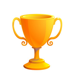 gold cup trophy award prize for first place vector image