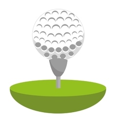 Golf club ball icon vector