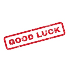 Good Luck Text Rubber Stamp vector image