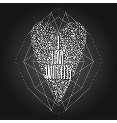 Graphic winter heart vector image