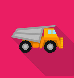 Haul truck icon in flat style isolated on white vector