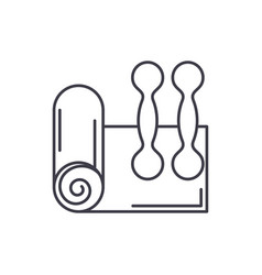 home fitness line icon concept home fitness vector image