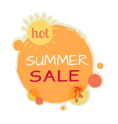 Hot summer sale round banner best quality price vector