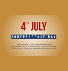 Independence day celebration banner style vector