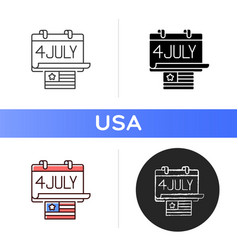 Independence day icon vector