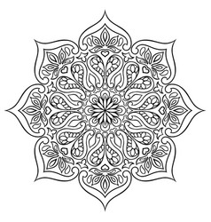Indian ornamental mandala ethnic folk ornament vector