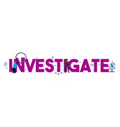 Investigate text detective audit investigate fraud vector