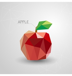 Juicy apple polygon vector image