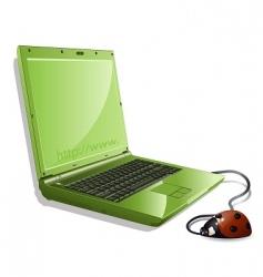 Ladybird and notebook vector