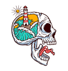 lighthouse in my mind vector image