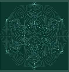 Linear geometric pattern vector