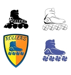 Logo roller skating vector