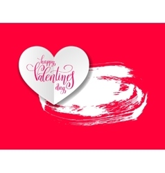 Love banner with heart origami paper lettering and vector