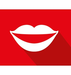 mouth icon vector image
