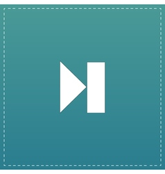Next track web icon media player vector