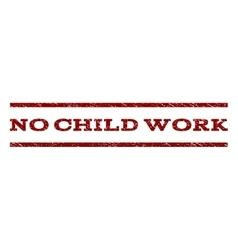No Child Work Watermark Stamp vector