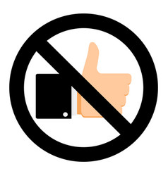 no like in social network vector image